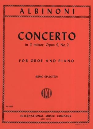 Concerto in D minor op. 9 n° 2 - Oboe piano ALBINONI laflutedepan