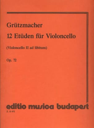 12 Etudes Op. 72 Friedrich Grützmacher Partition laflutedepan