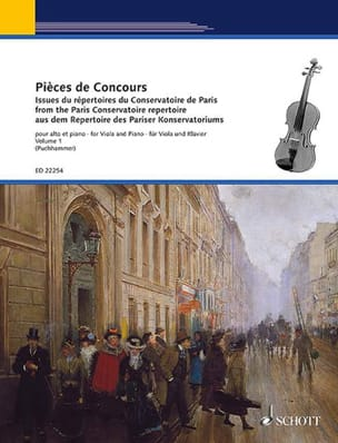 Pièces de concours Vol. 1 - Alto et piano Partition laflutedepan