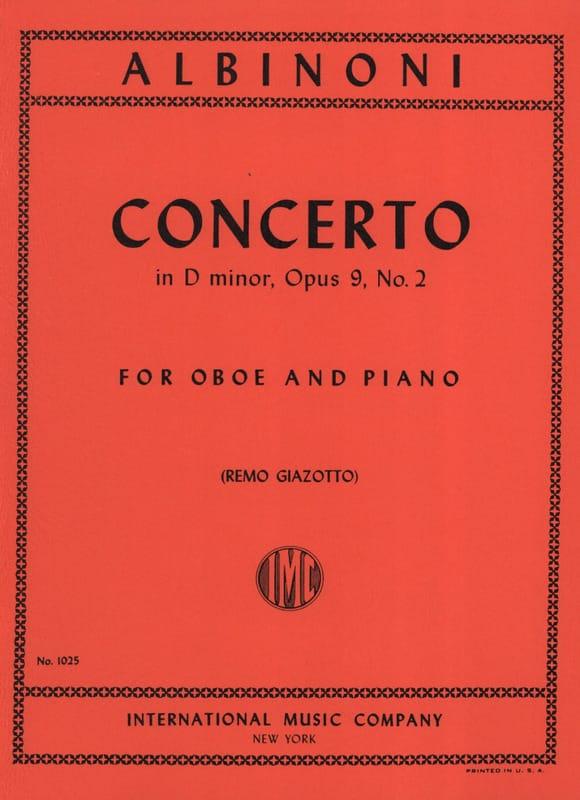 Concerto in D minor op. 9 n° 2 - Oboe piano - laflutedepan.com