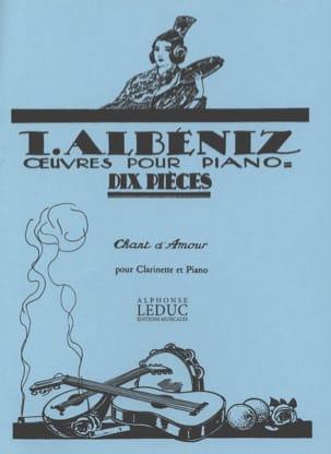 Chant d'Amour - Clarinette ALBENIZ Partition Clarinette - laflutedepan