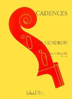 Cadences Maurice Gendron Partition Violoncelle - laflutedepan
