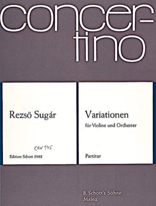 Variationen - Partitur - Rezsö Sugár - Partition - laflutedepan.com
