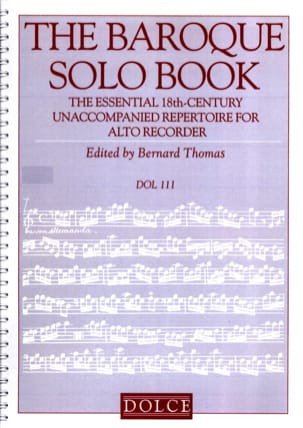 The Baroque Solo Book - Flûte à Bec Partition laflutedepan