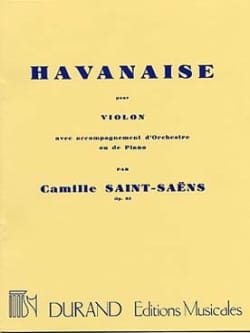 Camille Saint-Saëns - Havanese Op. 83 - Partition - di-arezzo.co.uk