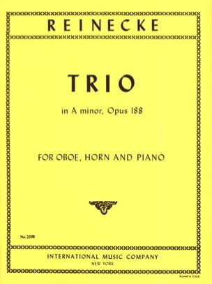 Trio in A Minor Opus 188 Carl Reinecke Partition Trios - laflutedepan