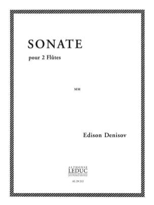 Sonate - 2 Flûtes Edison Denisov Partition laflutedepan