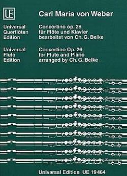 Concertino op. 26 - Flöte Klavier Carl Maria von Weber laflutedepan