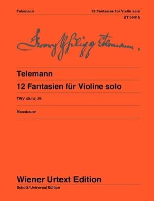 TELEMANN - 12 Fantasy for solo violin - Partition - di-arezzo.co.uk