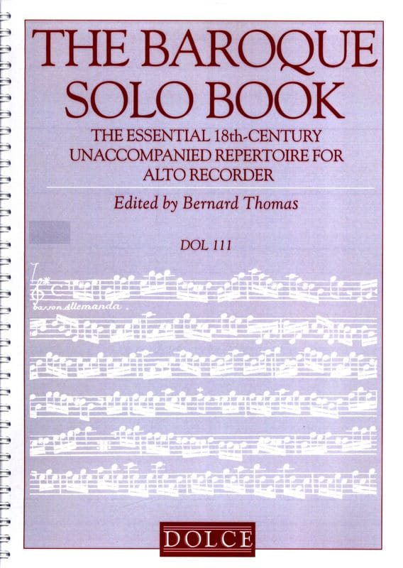 The Baroque Solo Book - Flûte à Bec - Partition - laflutedepan.com