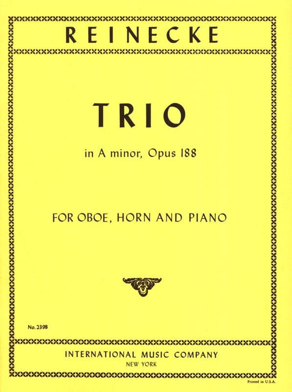 Trio in A Minor Opus 188 - Carl Reinecke - laflutedepan.com