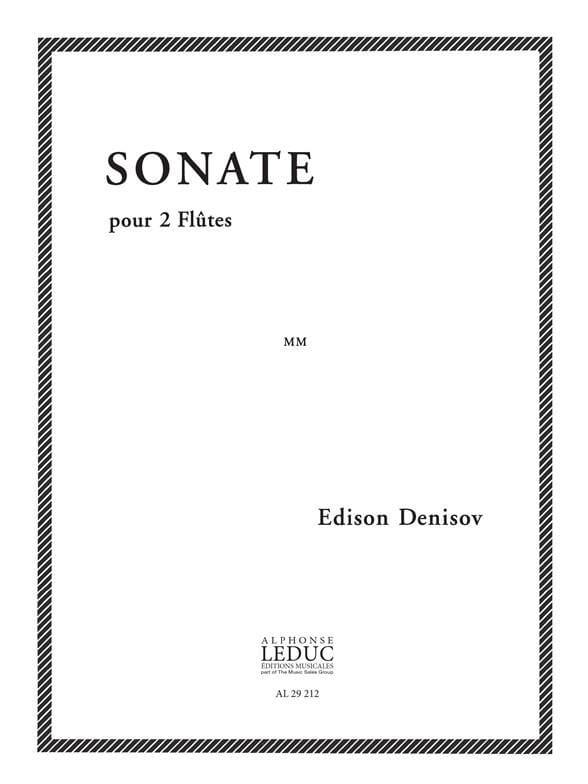 Sonate - 2 Flûtes - Edison Denisov - Partition - laflutedepan.com