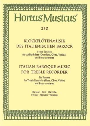 Blockflötenmusik des italienischen Barock - Altblockflöte u. Bc laflutedepan