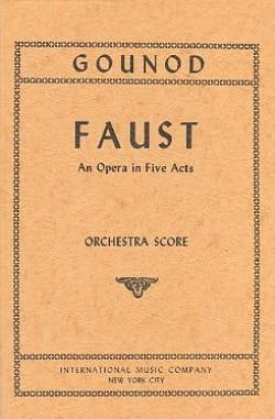Faust - Score GOUNOD Partition Grand format - laflutedepan