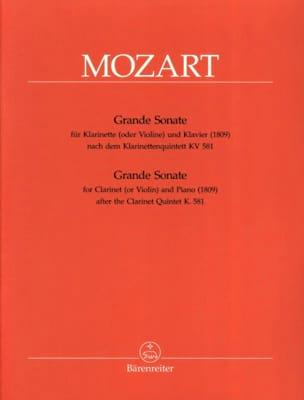Grande Sonate KV 581 - Klarinette in A und Klavier MOZART laflutedepan
