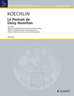 Le portrait de Daisy Hamilton, op. 140 Vol. 6 - Quatuor à cordes et piano - laflutedepan.com