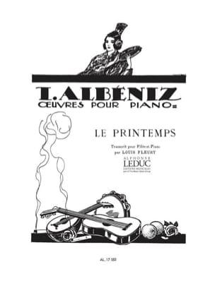 Le Printemps - Flûte piano ALBENIZ Partition laflutedepan