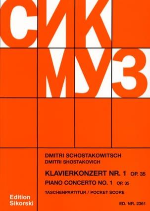Concerto pour Piano N° 1 Op. 35 - Partitur CHOSTAKOVITCH laflutedepan