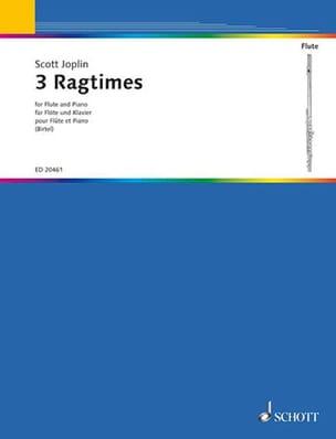 3 Ragtimes JOPLIN Partition Flûte traversière - laflutedepan