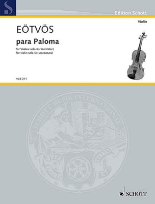 Para Paloma - Violon solo Peter Eotvos Partition Violon - laflutedepan
