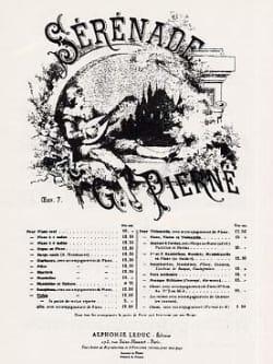 Sérénade Opus 7 PIERNE Partition Violon - laflutedepan