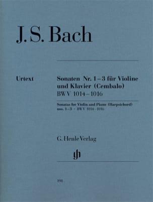 Sonates pour violon n° 1-3 BWV 1014-1016 ----- laflutedepan.com