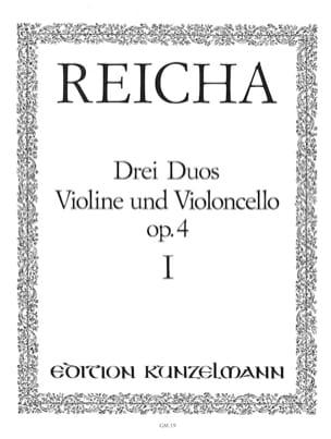 3 Duos op. 4 n° 1 - Violine und Violoncello Joseph Reicha laflutedepan