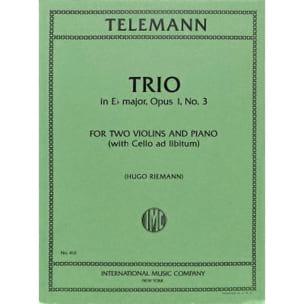 Trio E flat major op. 1 n° 3 TELEMANN Partition Trios - laflutedepan