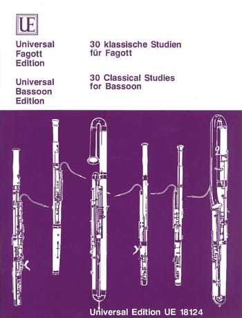 30 klassische Studien für Fagott - Partition - laflutedepan.com