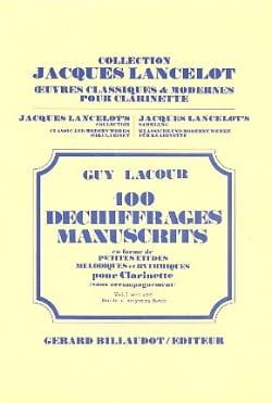 100 Déchiffrages Manuscrits Volume 1 - Clarinette laflutedepan