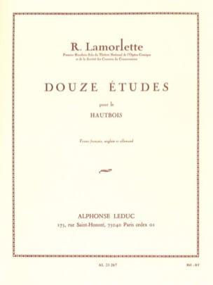 12 Etudes Roland Lamorlette Partition Hautbois - laflutedepan