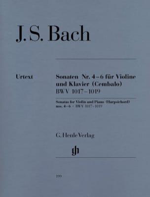 Sonates pour violon n° 4-6 BACH Partition Violon - laflutedepan