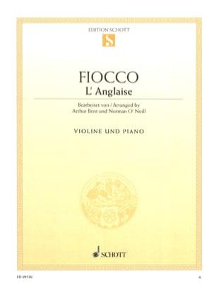 L'anglaise Joseph Hector Fiocco Partition Violon - laflutedepan