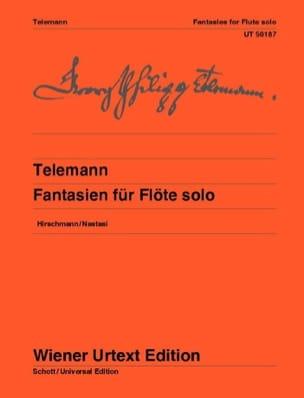TELEMANN - 12 Fantasy - Solo flute - Partition - di-arezzo.com