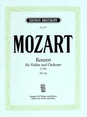 Concerto en sol majeur, KV 216 MOZART Partition Violon - laflutedepan