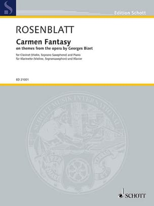 Carmen Fantasy Alexander Rosenblatt Partition laflutedepan