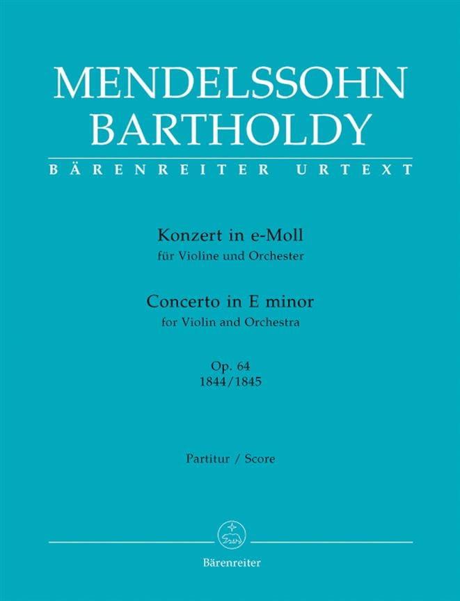 Konzert für Violine in e-moll op. 64 - MENDELSSOHN - laflutedepan.com