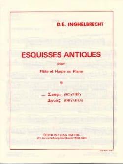 Scaphé Esquisse antique n° 1 D. E. Inghelbrecht Partition laflutedepan