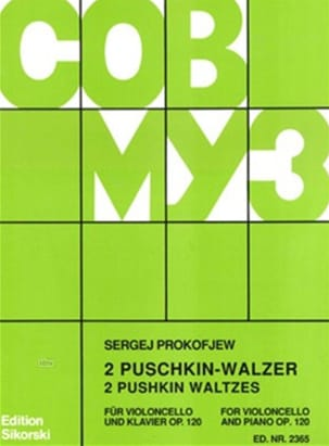 2 Puschkin-Walzer op. 120 - PROKOFIEV - Partition - laflutedepan.com