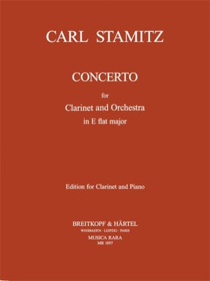 Concerto Clarinette Mib Majeur STAMITZ Partition laflutedepan