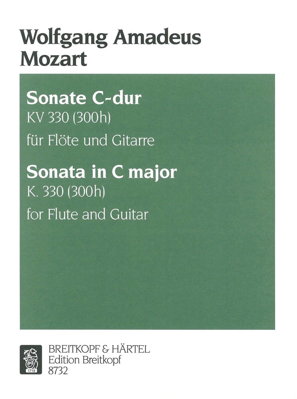 Sonate C-Dur KV 330 - Flöten Gitarre - MOZART - laflutedepan.com