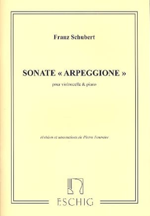 Sonate Arpeggione, la mineur D. 821 SCHUBERT Partition laflutedepan