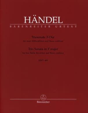 Triosonate F-Dur HWV 405 - 2 Altblockflöten u. Bc HAENDEL laflutedepan