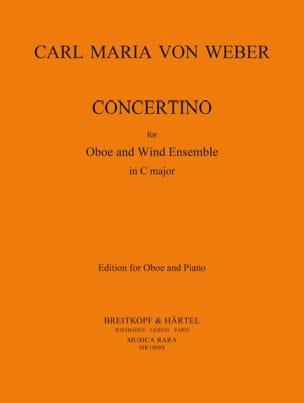 Concertino -Oboe piano Carl Maria von Weber Partition laflutedepan