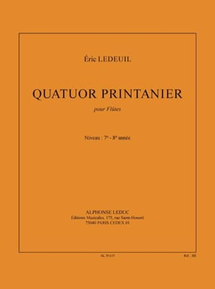 Quatuor printanier Eric Ledeuil Partition laflutedepan