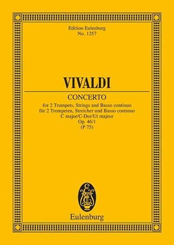 Konzert C-Dur, Op. 46 N°1 - 2 Trompettes, Cordes et B. C. - laflutedepan.com