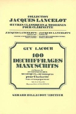 100 Déchiffrages Manuscrits Volume 2 - Clarinette laflutedepan
