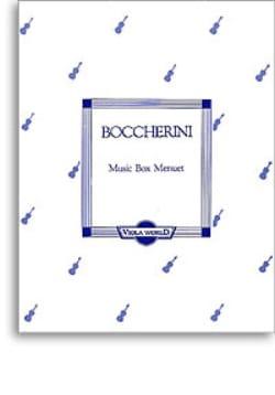 Music Box Menuet BOCCHERINI Partition Alto - laflutedepan