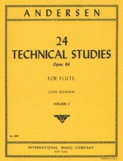 24 Technical studies op. 63 - Volume 1 ANDERSEN Partition laflutedepan