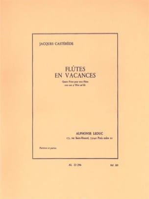 Flutes en Vacances Jacques Castérède Partition laflutedepan